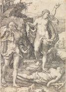 Lucas van Leyden - Kain erschlägt Abel. - Adam und Eva beweinen den toten Abel