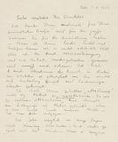 Edvard Munch - Brief, 7. Nov. 1929