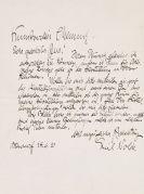 Emil Nolde - Brief, 28. Juni 1920 u. Brief von Ada Nolde (27.10.1920)