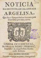 Mascarenhas, José Freire de Monterroyo - Noticia da destruicam da Armada Argelina
