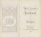 Goethe, Johann Wolfgang von - West-oestlicher Divan