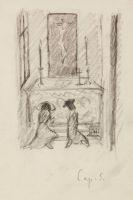 Otto Mueller - Aus einer Nähschule (6 Zeichnungen)