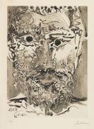 Pablo Picasso - Tête d'homme barbu. II