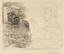 Pablo Picasso - La Taberna. Jeune pêcheur catalan racontant sa vie à un vieux pêcheur barbu
