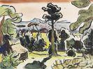 Karl Schmidt-Rottluff - Landschaft mit Bäumen