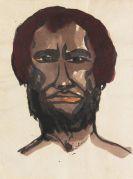 Emil Nolde - Männerbildnis mit dunkelrotem Haar, Neuguinea
