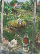 Heisig, Bernhard - Blick in den Garten