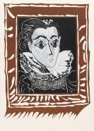 Picasso, Pablo - Portrait de Jacqeline à la fraise (La Dame à la Collerette)