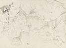 Otto Mueller - Zigeunerwagen mit Pferd und Krug