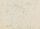 Ernst Ludwig Kirchner - Zwei Männer bei Wein und Zigarre