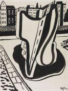 Werner Heldt - Stillleben vor Häuserfront