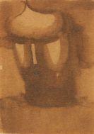 Schlemmer, Oskar - Gesenkter Frauenkopf mit Licht auf dem Gesicht