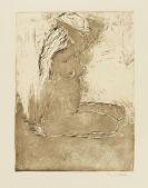Emil Nolde - Knieendes Mädchen
