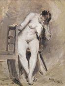 Koloman Moser - Weiblicher Akt im Atelier