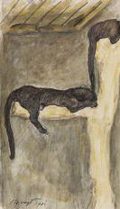 Max Slevogt - Pantherpaar im Frankfurter Zoo