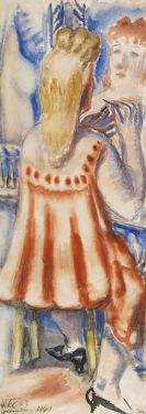 Paul Kleinschmidt - Frau bei der Toilette