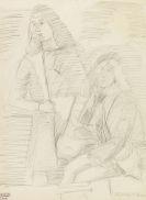 Ernst Ludwig Kirchner - Figurenstudie nach Vittore Carpaccio (1465-1526)