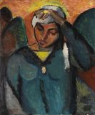 Josef Eberz - Porträt einer südländischen Frau