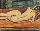 Christian Rohlfs - Liegender Weiblicher Rückenakt