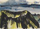 Emil Nolde - Landschaft mit dem Krater eines Vulkans