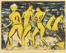 Otto Mueller - Fünf gelbe Akte am Wasser