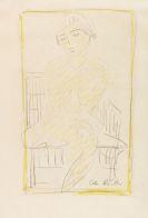 Otto Mueller - Auf dem Stuhl sitzender Mädchenakt