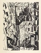 Lyonel Feininger - Straße in Paris