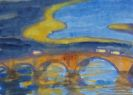 Emil Nolde - Brücke über die Elbe (Augustusbrücke in Dresden)