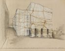 Christo und Jeanne-Claude - Package Teatro Nuovo Spoleto Pianta del Tetto (Project for opening night of the festival of two worlds 27 june 1968)