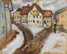 Gabriele Münter - Tauwetter im Dorf (Murnau)