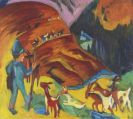 Ernst Ludwig Kirchner - Heimkehrende Ziegenherde
