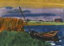 Emil Nolde - Marschlandschaft mit Fischerboot
