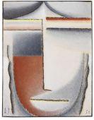Jawlensky, Alexej von - Winterstimmung (Abstrakter Kopf)