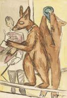Max Beckmann - Dressierte Bären