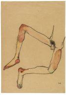 Schiele, Egon - Männlicher Unterleibstorso
