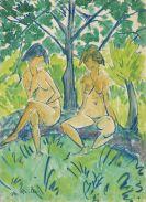 Otto Mueller - Zwei Mädchenakte