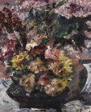 Lovis Corinth - Blumen im Bronzekübel
