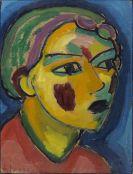 Alexej von Jawlensky - Dichterin (Mystischer Kopf)