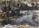 Lovis Corinth - Eisbahn im Berliner Tiergarten