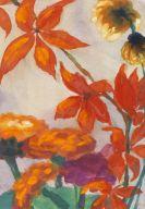 Emil Nolde - Zinnien und Sonnenblumen