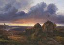 Louis Gurlitt - Abendliche Sicht auf den Kattegat bei Kullen
