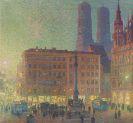 Charles Johann Palmié - Marienplatz am Abend