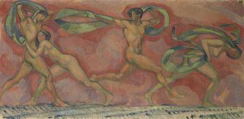 Ludwig von Hofmann - Tanzfries