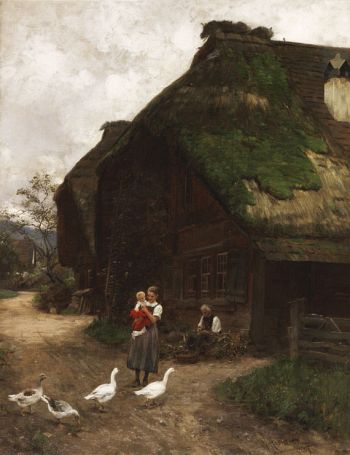 Wilhelm Hasemann - In der Dorfgasse