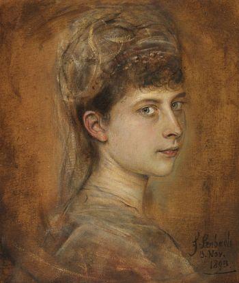 Franz von Lenbach - Charlotte von Meiningen, Prinzessin von Preussen