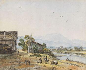 Kobell, Wilhelm von - Landschaft bei Wolfratshausen