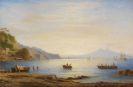 Carl Morgenstern - Bucht vor Neapel mit Blick auf den Vesuv
