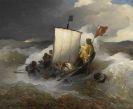 Andreas Achenbach - Fischerboot auf stürmischer See