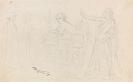 Carl Spitzweg - Figurenstudien: Eremit, Junge Frau am Fenster, Allegorie
