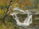 Edward Harrison Compton - Wildbach im herbstlichen Gebirge